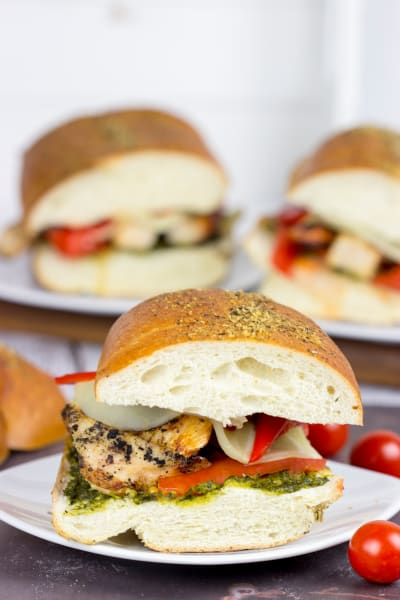 Grilled Chicken Pesto Sandwich Picture