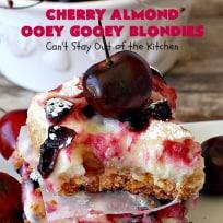 Cherry Almond Ooey Gooey Blondies