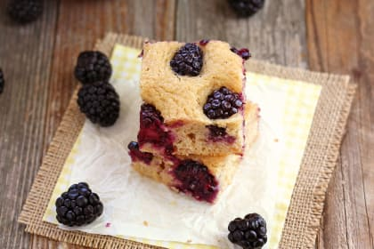 Lemon Blackberry Baked Pancake