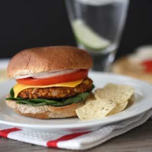 Spicy black bean burger photo