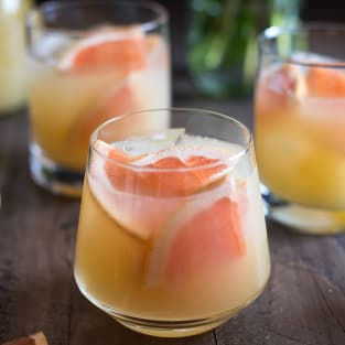 Bourbon grapefruit cocktail photo