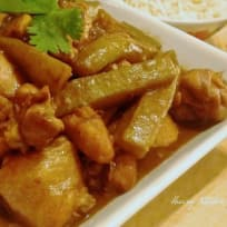 Malaysian Style Braised Chicken With Bitter Gourd