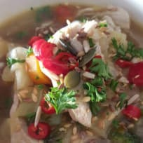 Low Carb Shredded Chicken Soup