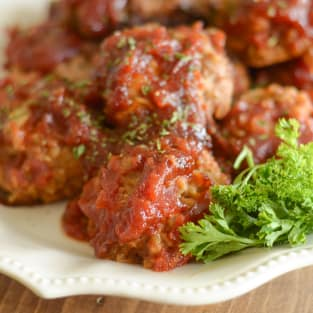 Gluten free slow cooker tangy turkey meatballs photo