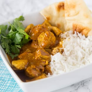 Easy coconut chicken curry photo