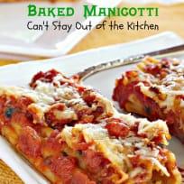 Baked Manicotti