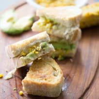 Avocado Grilled Cheese with Roasted Corn Recipe