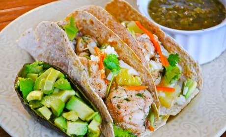 Jerk Fish Tacos with Pineapple Slaw Photo
