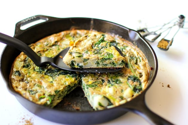 Spinach Leek Potato Frittata Photo