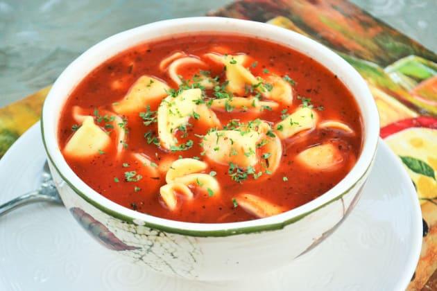 Tomato Tortellini Soup Photo