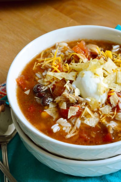 Slow Cooker Chicken Enchilada Soup Picture