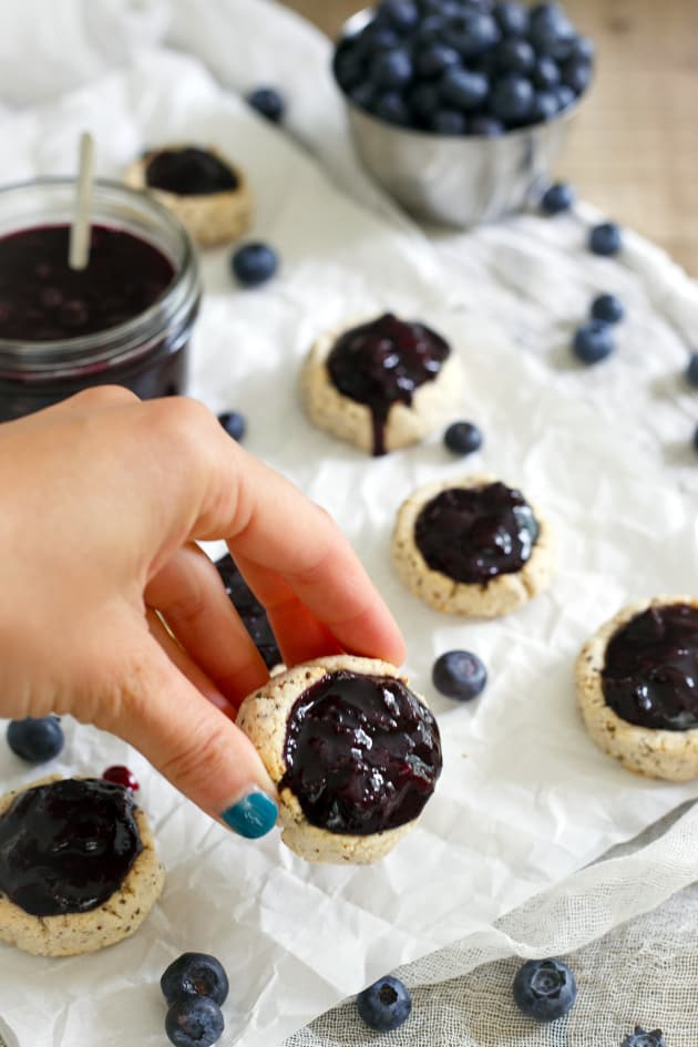 Paleo Blueberry Thumbprints Picture