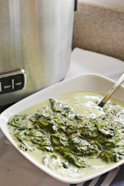 Slow Cooker Creamed Spinach Pic