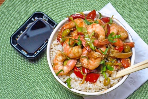 Asian Shrimp Rice Bowls Image
