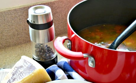 Garbanzo Bean Vegetable Soup with Pearled Couscous Picture