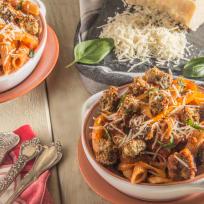 Eggplant Parmesan Bite Pasta Bowls Recipe