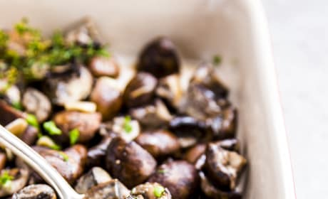 Garlic Butter Baked Mushrooms Image