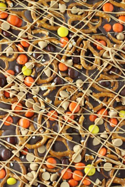 Chocolate Peanut Butter Pretzel Bark Image