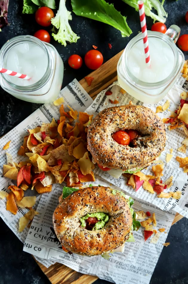 Everything Avocado Turkey Bagel Sandwiches Picture