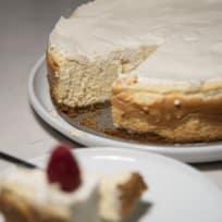 Vanilla Bean Cheesecake with a Walnut Crust