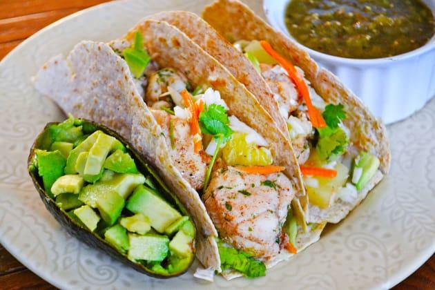 Jerk Fish Tacos with Pineapple Slaw Photo