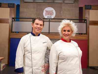 Anne Burrell and Bobby Flay Pic