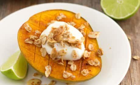 Broiled Mango with Greek Yogurt Recipe