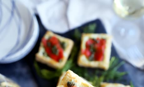 Smoked Salmon Avocado Cream Cheese Pastries Pic
