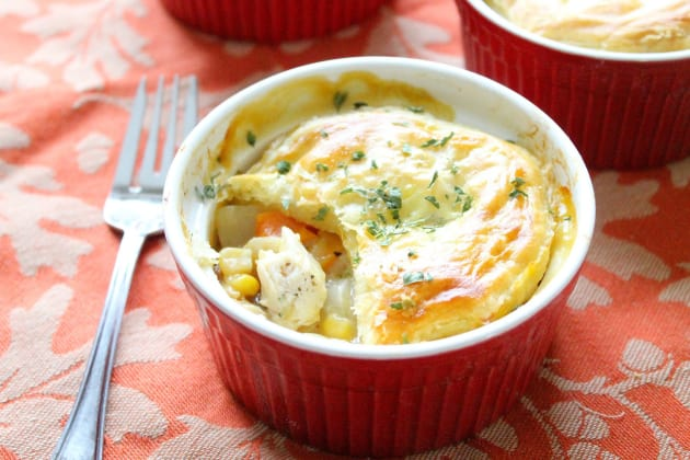Individual Puff Pastry Chicken Pot Pies Photo
