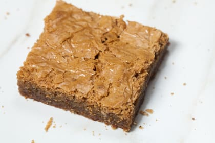 Brown Butter Blondies with Toffee and Hazelnut