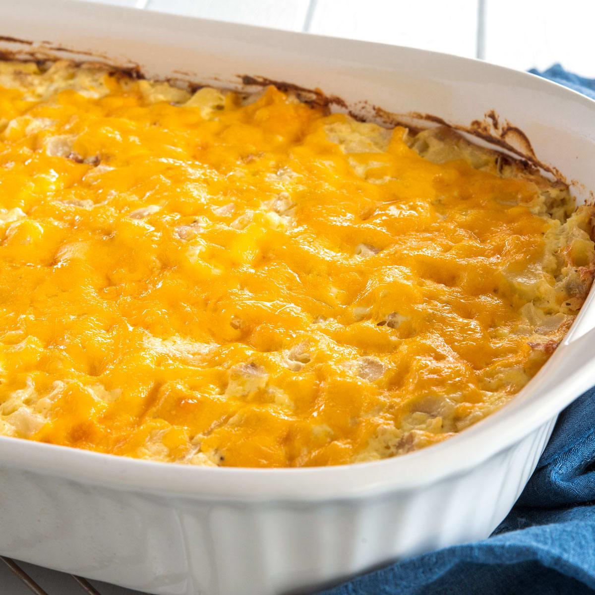 Cheesy Hashbrown Potato Casserole Recipe Food Fanatic