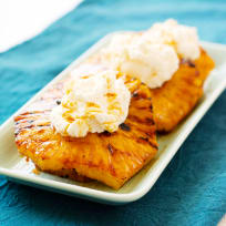 Grilled Pineapple with Mascarpone Whipped Cream Recipe
