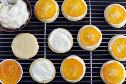 Candied Meyer Lemon Cookies