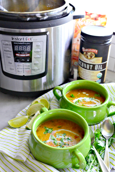 Instant Pot Coconut Curry Lentil Tomato Soup Picture