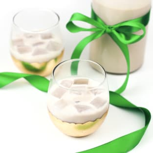 Homemade irish cream liqueur photo