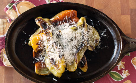 Charred Peppers with Parmesan: Italian Simplicity