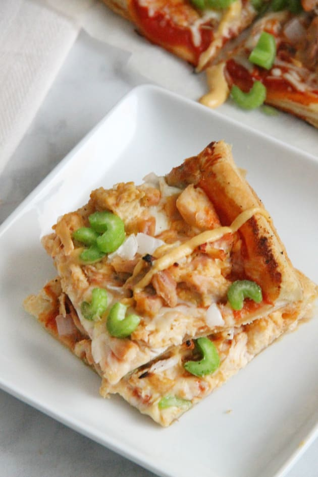 Puff Pastry Honey Mustard Chicken Pizza Image