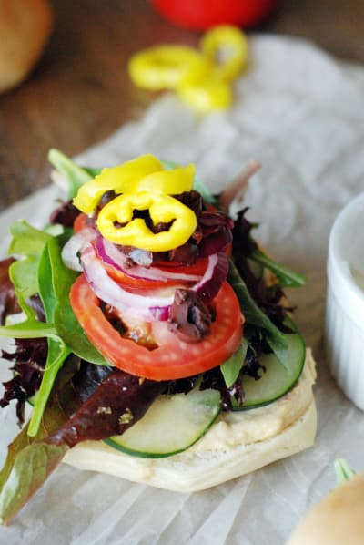 Greek Veggie Sandwich Picture