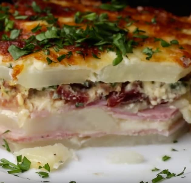 Ham & Cheese Potato Bake