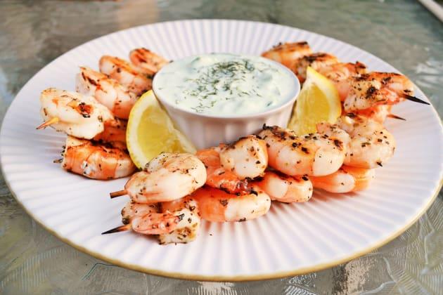 Greek Shrimp with Tzatziki Sauce Picture