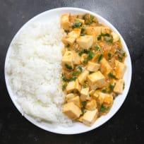 Meatless Mapo Tofu with Nira