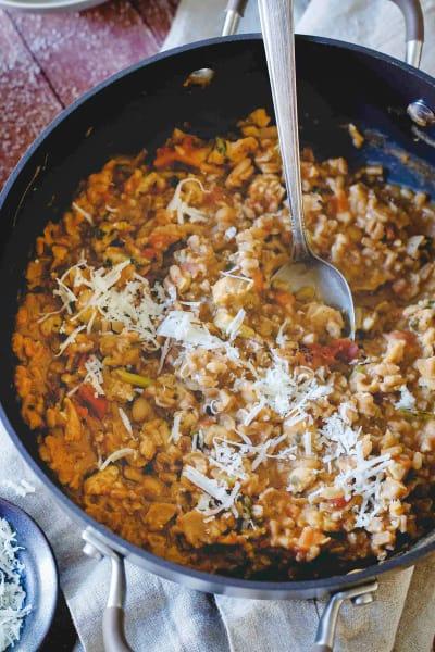 Tuscan White Bean Farro Risotto 1