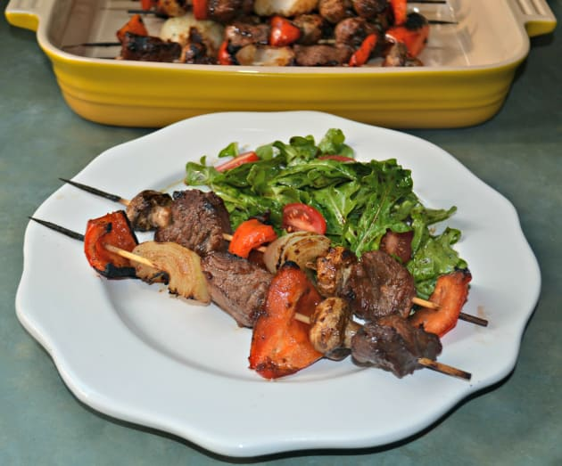 Teriyaki Steak Kabobs Photo