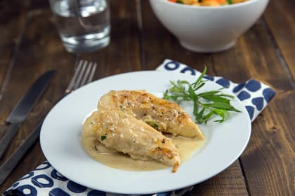 Chicken in Mustard Tarragon Sauce