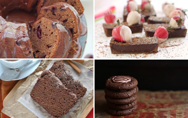 Chocolate cherry bundt cake image