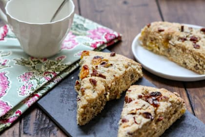 Orange-Spiced Raisin Pecan Scones