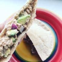 Cilantro Avocado and Tuna Salad Sandwiches