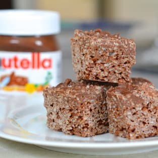Salted nutella crunch bars photo