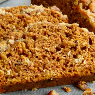 Healthy sweet potato crunch bread photo
