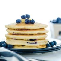 Gluten Free Blueberry Pancakes Recipe